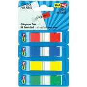 Redi-Tag, RTG74002, Pop-Up Page Flag Dispenser, 140 / Pack, Assorted