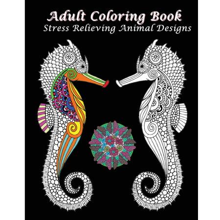 Adult Coloring Book Stress Relieving Animal Designs: An Adult Coloring Book Featuring Mandalas & Animals - Mandala Coloring Sheet