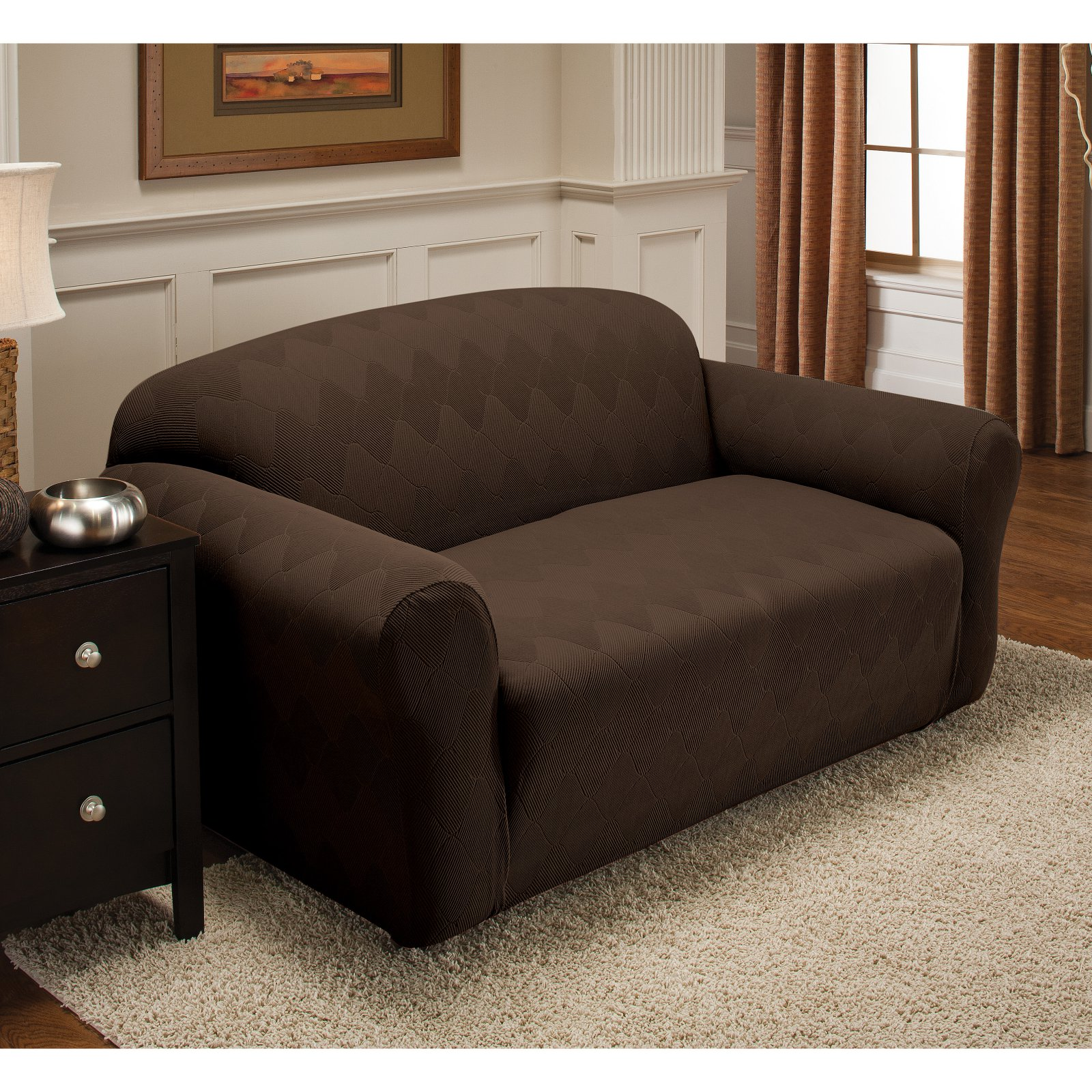 Stretch Sensations Stretch Optics Slipcover Loveseat Couch Cover