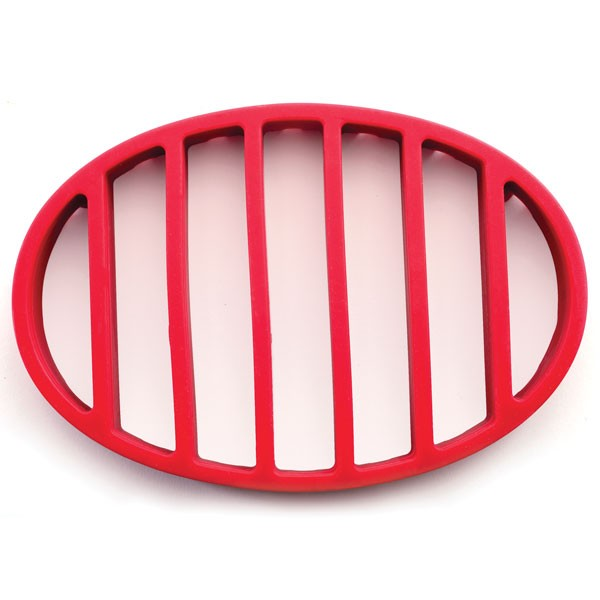 Click here to buy Red Nonstick Flat Oval Round Roasting Rack Pan For Healthy Turkey.