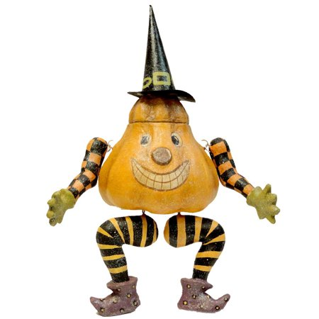 Halloween PUMPKIN SITTER Paper Mache Witch HC322271
