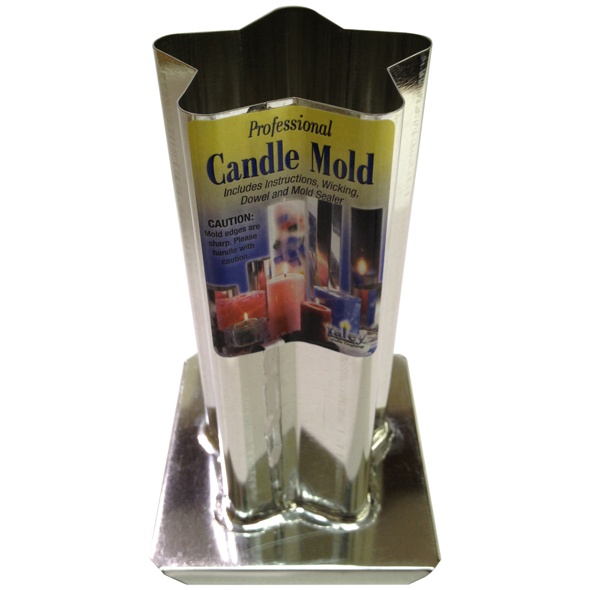 """Yaley Professional Metal Candle Mold, 5 Point Rounded Star, 3"""" x 6-1/2"""""""