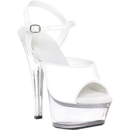 SummitFashions - 6 Inch Women s Sexy Platform Shoes High Heel Sandal With  Clear Bottom - Walmart.com