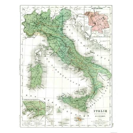 Modern Map Of Italy.International Map Italy Contambert 1880 23 X 29 81