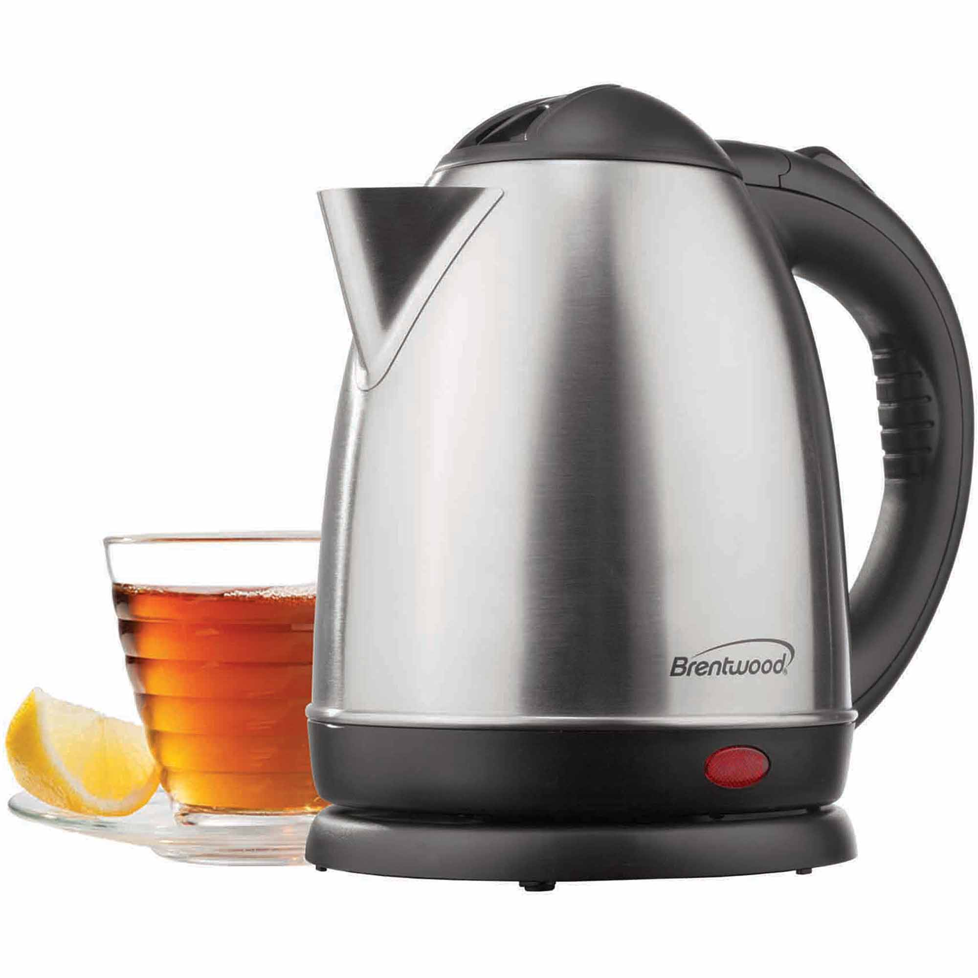 Brentwood KT-1780 1,000W 1.5L Stainless Steel Electric Cordless Tea Kettle, Brushed