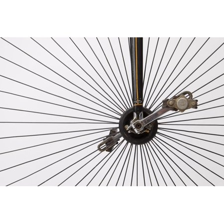 A Late 1800s High Wheel Bicycle Print Wall Art