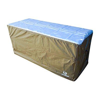 YardStash Deck Box Cover XL to Protect Large Deck Boxes: Suncast DBW9200 Deck Box Cover, Lifetime 60012 Extra Large Deck Box Cover, Rubbermaid 5E39 Deck Box Cover & Rubbermaid w/Seat Deck Box Cover