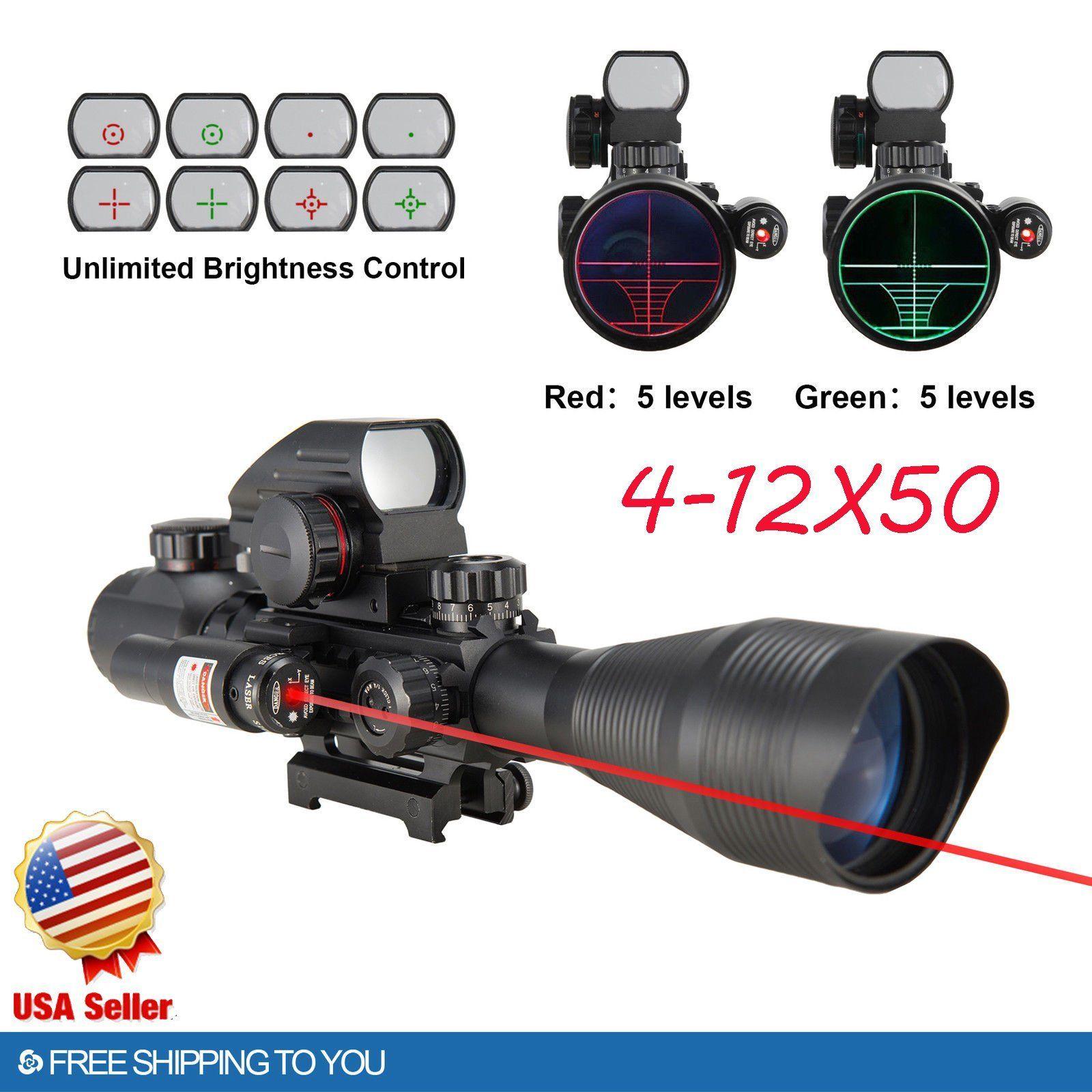 4-12X50 EG Tactical Gun Telescope with Holographic 4 Reti...