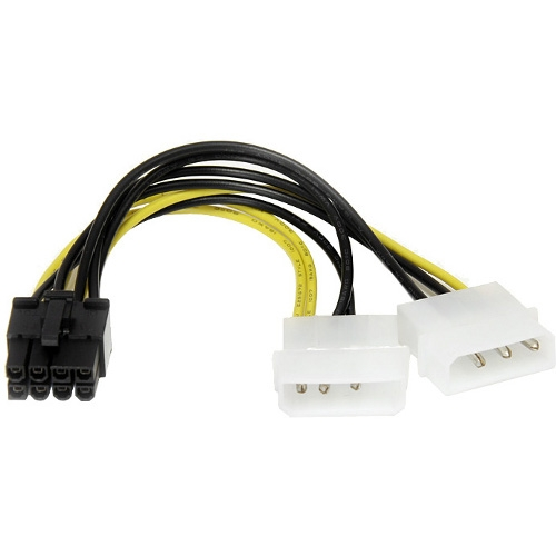 Startech LP4PCIEX8ADP 6 Lp4 To 8 Pin Pcie Power Cable Adapter