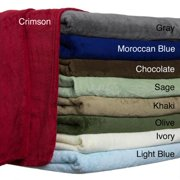All Seasons Solid Microplush Blanket King - Crimson