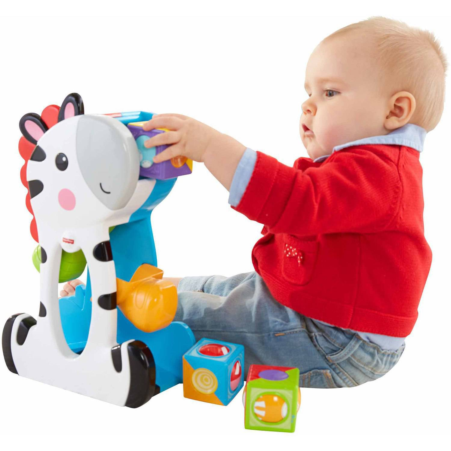 Fisher Price Roller Blocks Tumblin Zebra Walmart