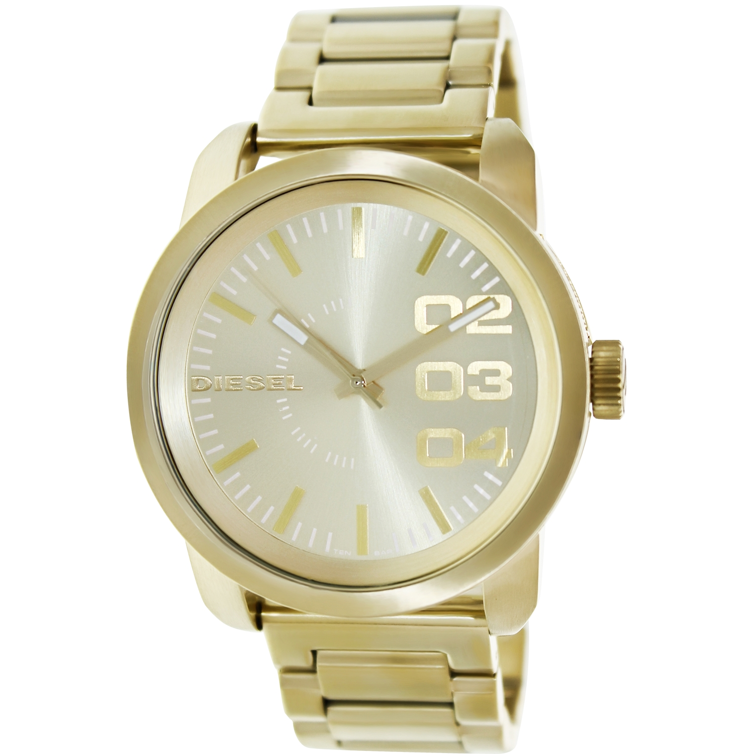 Diesel Men's DZ1466 Gold Stainless-Steel Quartz Fashion Watch