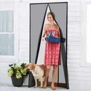 """Magnetic Screen Door,39"""" x 82"""" Magic Mesh Screen Door Heavy Duty Anti Mosquito Bug Door Screen with Full Frame Velcro"""