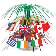 """International Flag 7 1/2"""" Cascade Centerpiece (Each) - Party Supplies"""