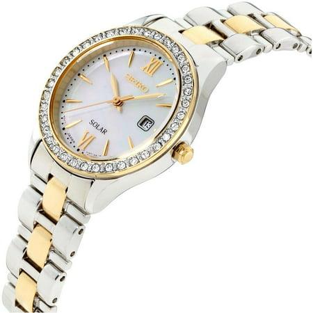 Best Seiko Womens Two Tone Solar Dress Watch deal
