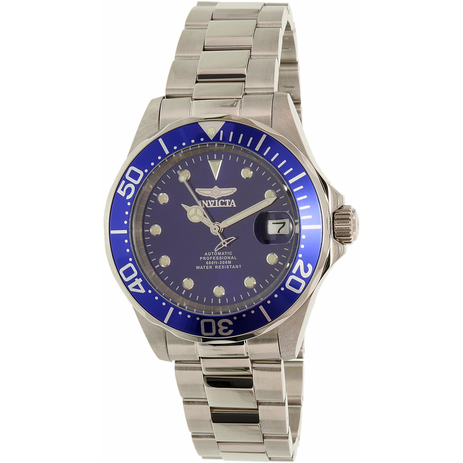 Invicta Men's Pro Diver 17040 Silver Stainless-Steel Automatic Dress Watch