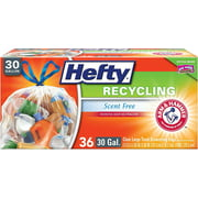 Hefty Recycling Bags, Clear, 30 Gallon, 36 Count