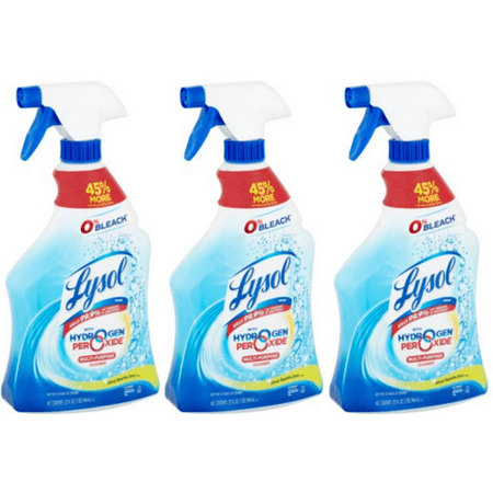 (3 Pack) Lysol Bleach Free Hydrogen Peroxide Multi-Purpose Cleaner Spray, Citrus,