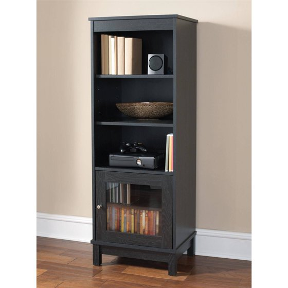 Mainstays Media Storage Bookcase Multiple Finishes