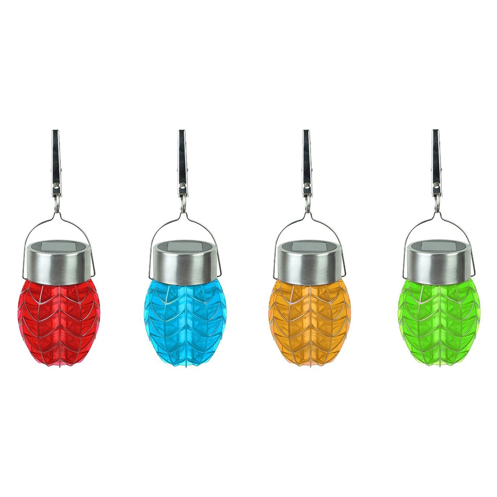 Moonrays 91574 Solar Powered Color-Changing LED Umbrella Party Lights, 8pk