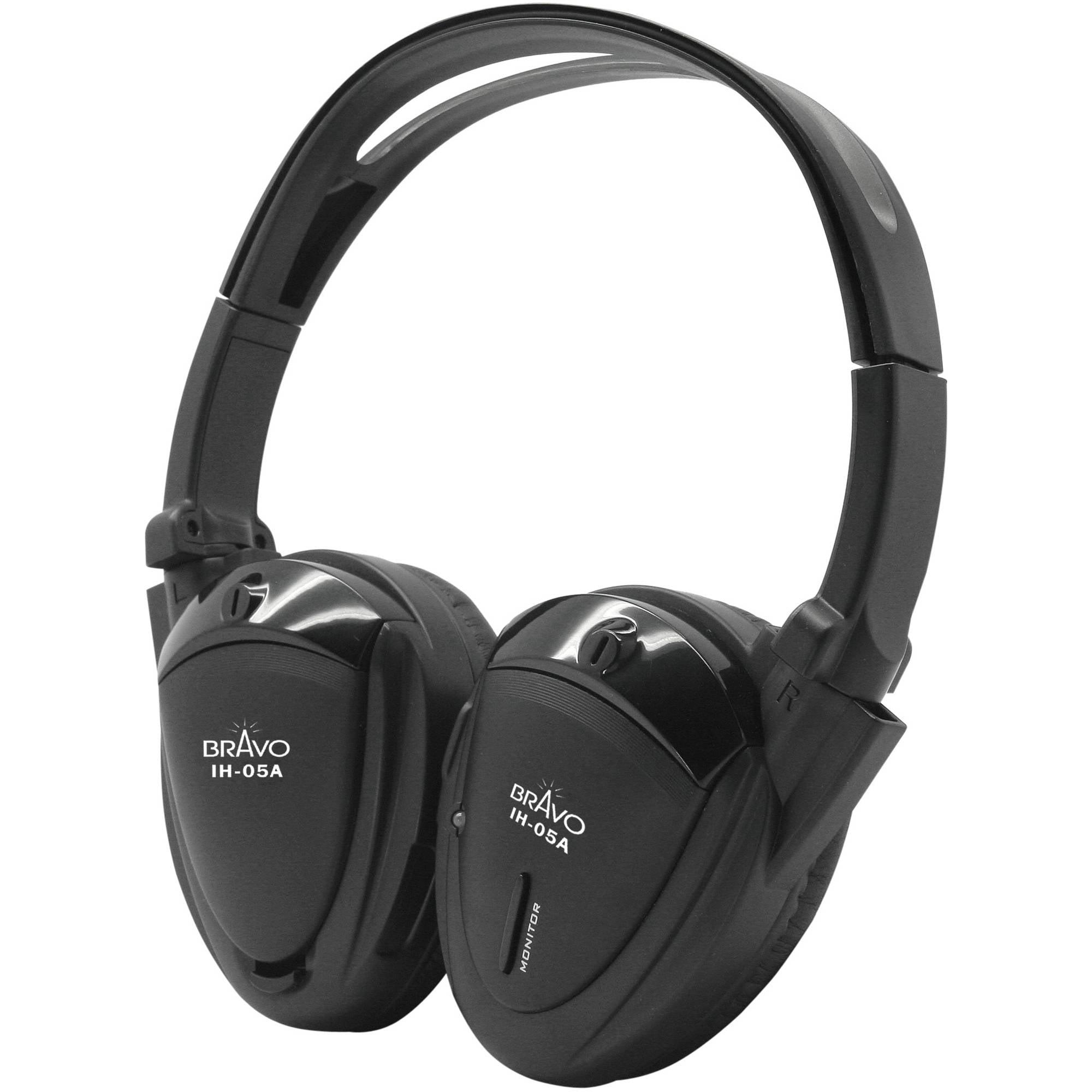 Bravo View IH-05A  SINGLE SOURCE Automotive IR Wireless Headphones