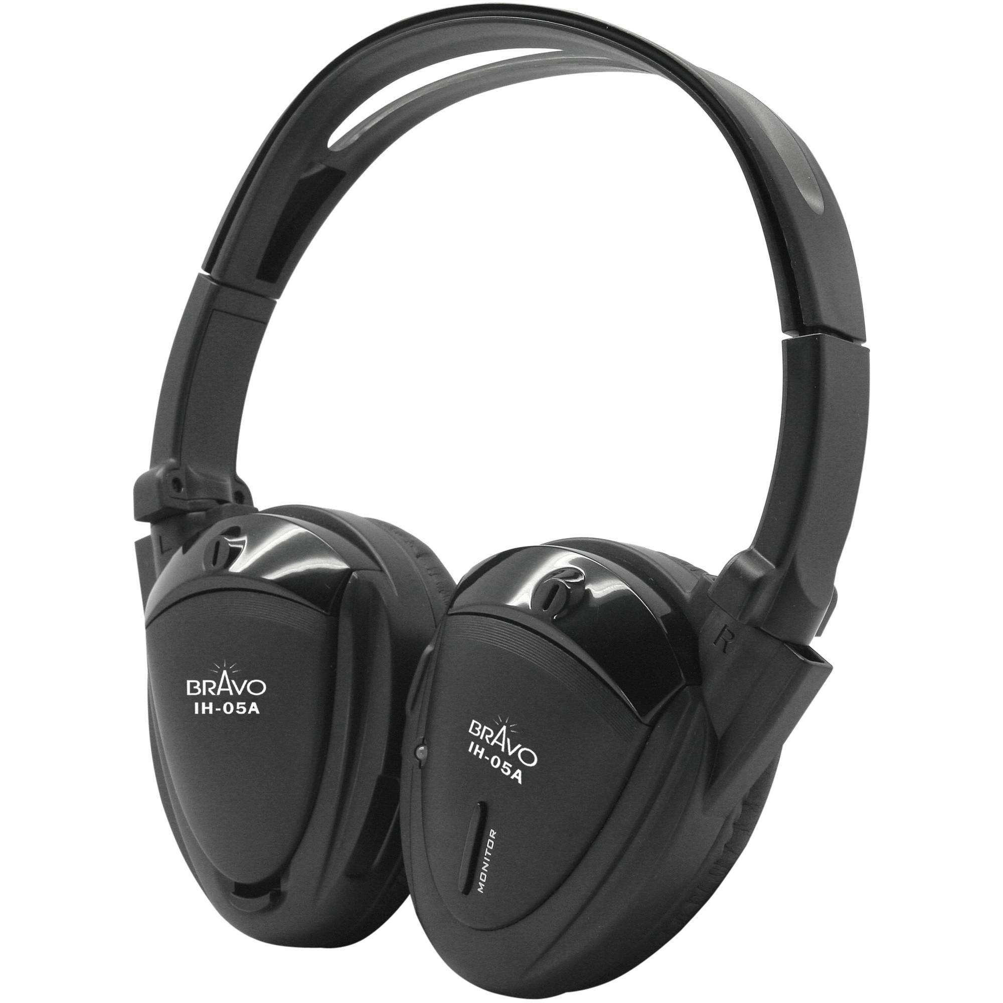 Bravo View IH-05A SINGLE SOURCE Automotive IR Wireless Headphones