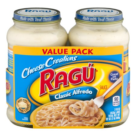 (4 Pack) Rag Cheese Creations Classic Alfredo Sauce 16 oz. each