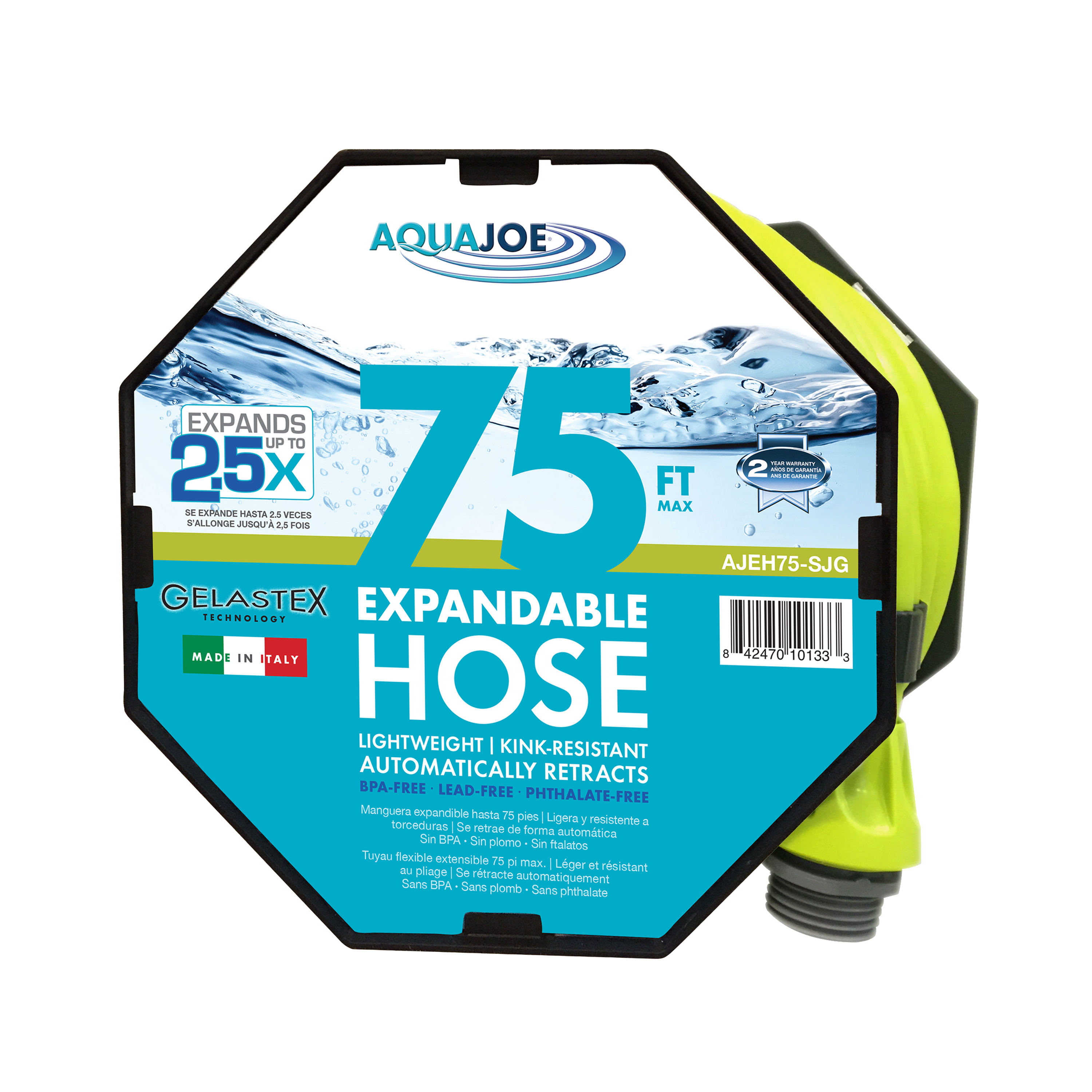 Aqua Joe 75' Expandable Lightweight Kink-Free Hose
