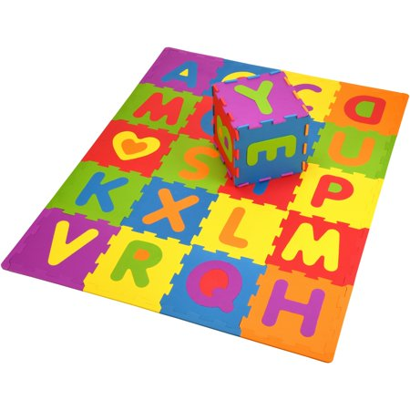 Spark. Create. Imagine. 28- Piece Interlocking Tile ABC Soft Foam - Big Foam Letters