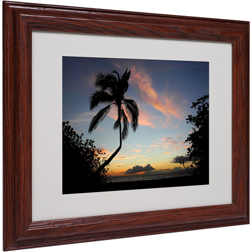 "Trademark Fine Art ""Tropical Sunset"" Matted Framed Art by Pierre Leclerc"