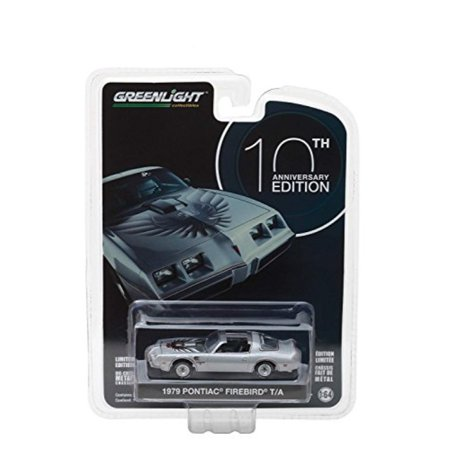 1979 Pontiac Firebird Trans Am Silver 10th Anniversary Edition Anniversary Collection Series 6 1/64 Model Car by Greenlight