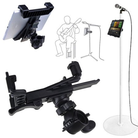 Music Microphone Stand Tablet Holder Mount, 360 Degree Swivel Adjust Holder for 7-10.8