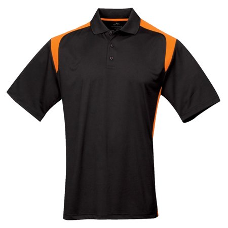 Tri Mountain Mens Big And Tall Rib Collar Golf Shirt