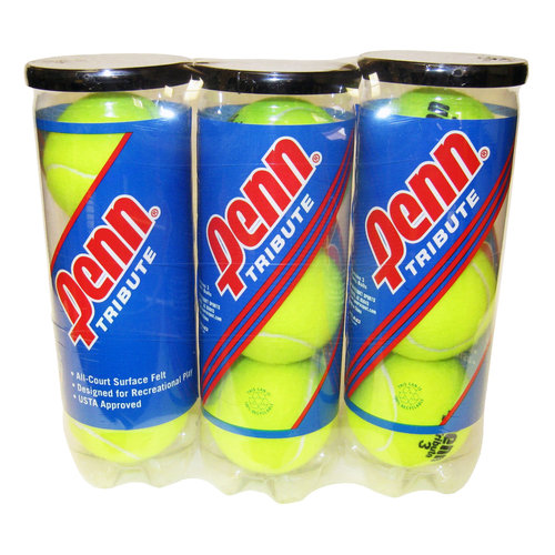 Penn Tribute Tennis Ball Pack (3 cans, 9 balls)