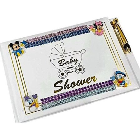 Disney Babies Baby Shower Guest Book with Characters Keepsake
