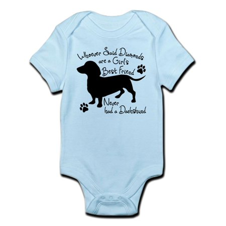 CafePress - Dachshund: Girls Best Friend - Baby Light