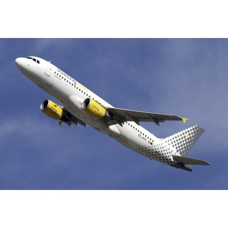 Airbus A320 Of Vueling Airlines Canvas Art   Luca Nicolottistocktrek Images  18 X 12
