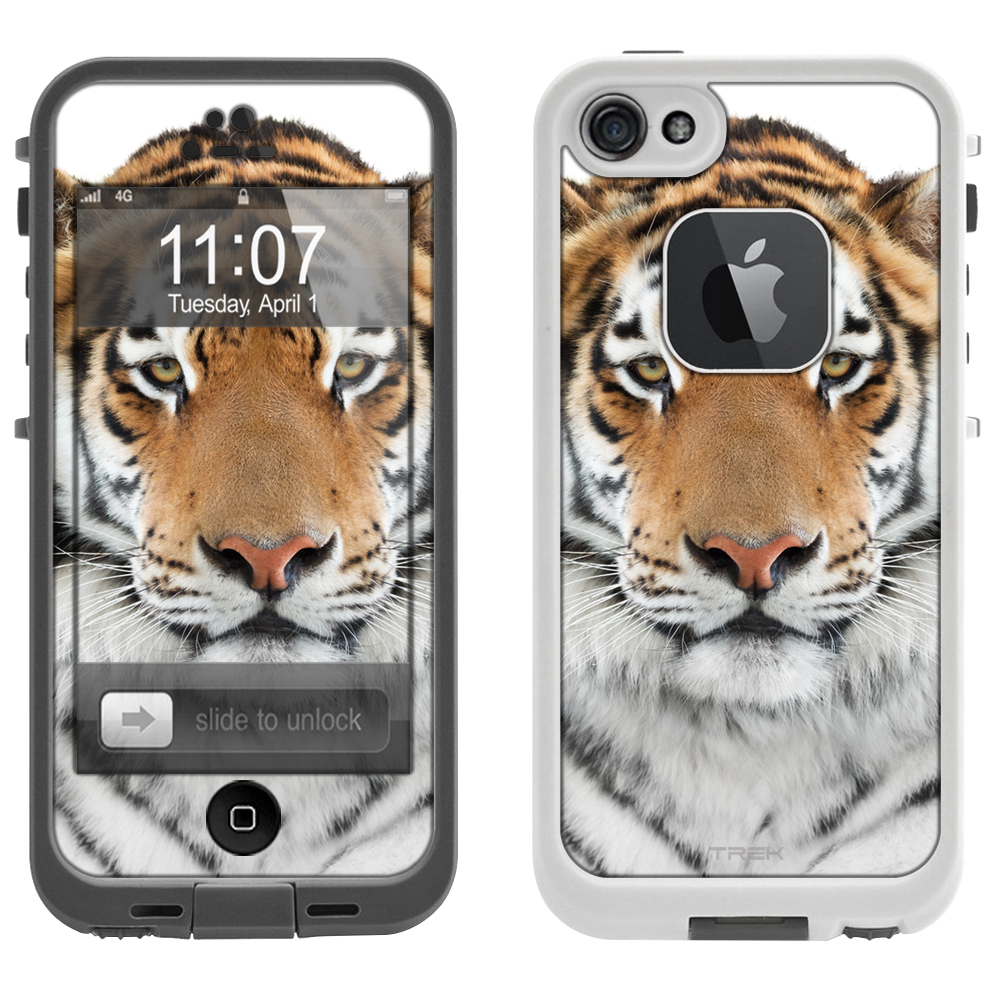 SKIN DECAL FOR LifeProof FRE Apple iPhone SE Case - Orange Tiger DECAL, NOT A CASE