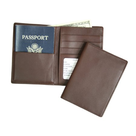 Royce Leather RFID Blocking Passport Currency Wallet - Coco
