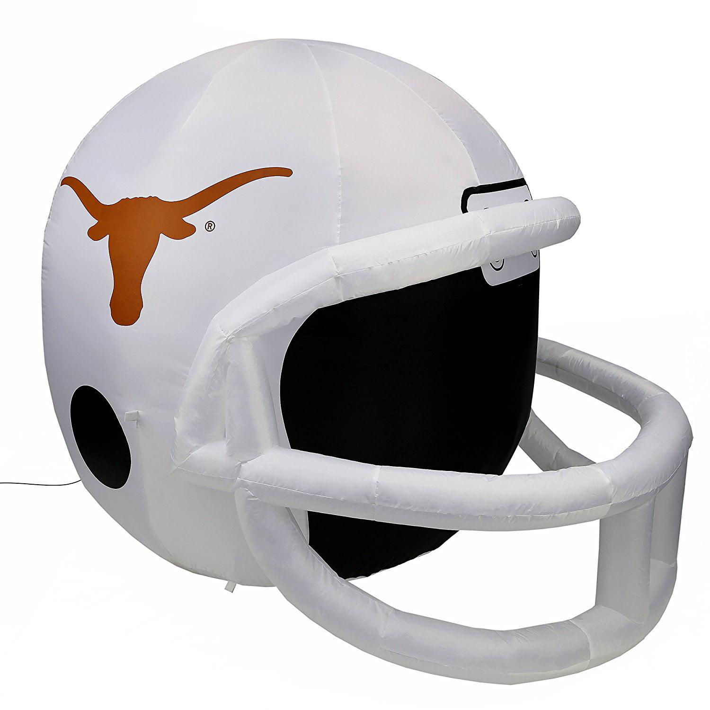 NCAA Texas Longhorns Team Inflatable Lawn Helmet, White, One Size