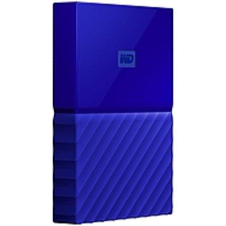 Refurbished WD My Passport WDBYNN0010BBL-WESN 1 TB External Hard Drive - Portable - USB 3.0 - Blue - 256-bit Encryption Standard (Wd My Ebook Hard Drive)