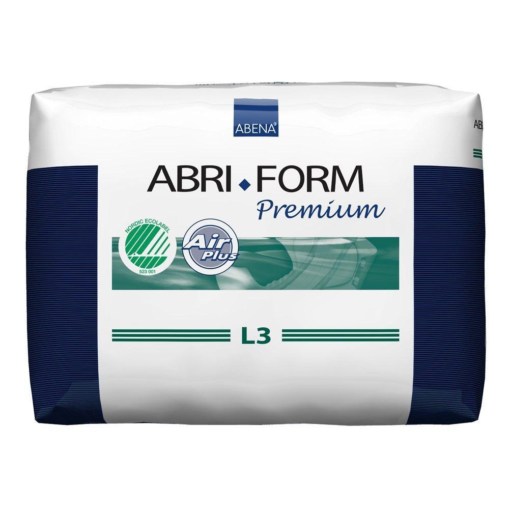"Abena Abri-Form Premium Adult Brief, Large L3 (40"" to 60"" Waist)-Case of 80"