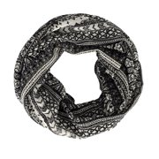 Peach Couture Tribal Aztec Print Infinity Loop Circle Scarf
