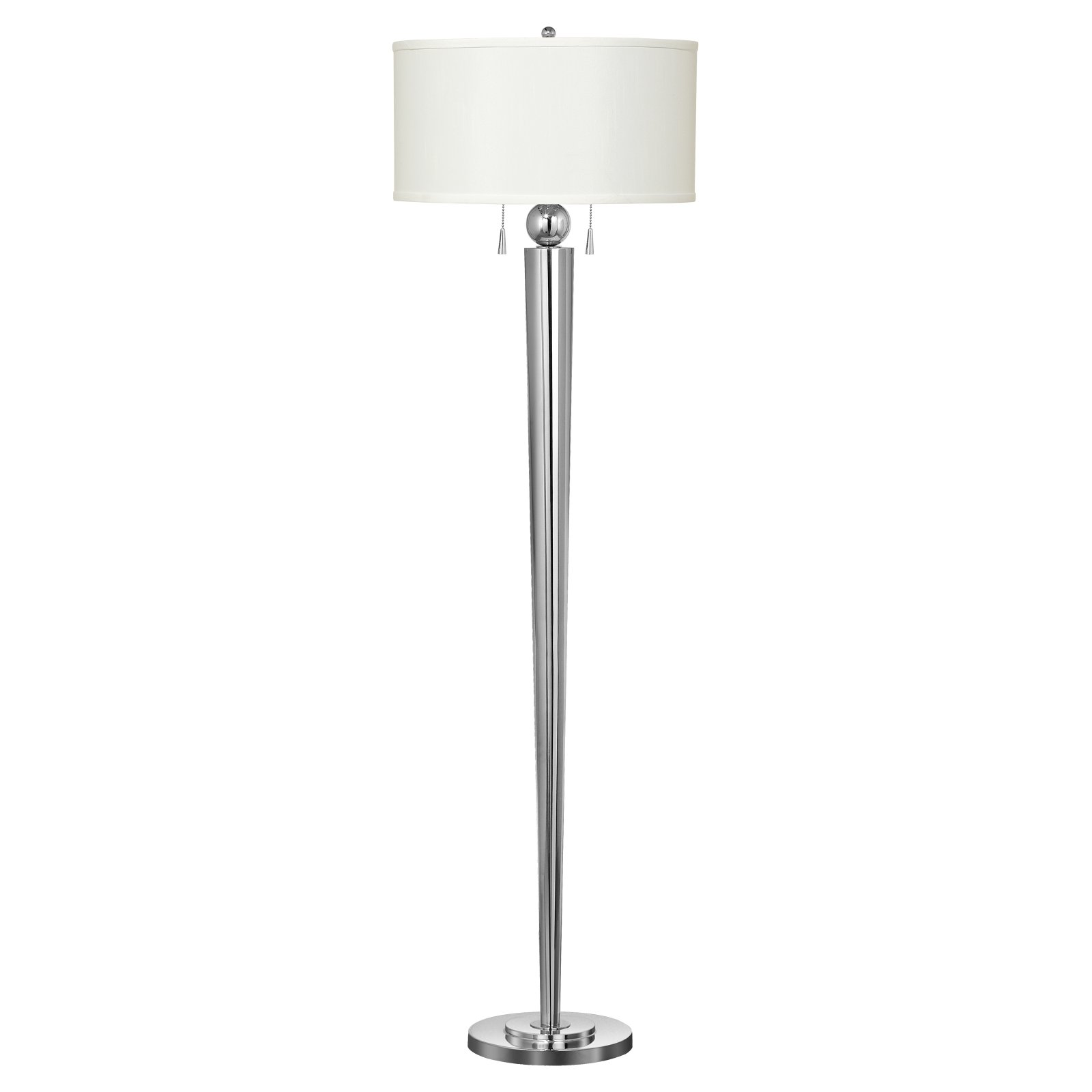 Cal Lighting BO-2007FL Messina Metal Floor Lamp with Pull Chain Switch by CAL Lighting