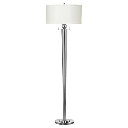 Cal Lighting BO-2007FL Messina Metal Floor Lamp with Pull Chain Switch