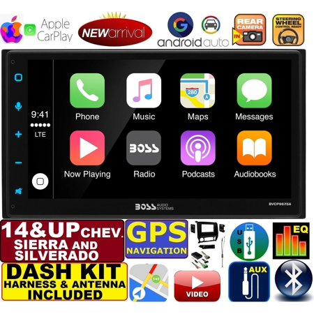 2014 & UP SILVERADO / SIERRA ANDROID AUTO APPLE CARPLAY NAVIGATION (works  with IPHONE) USB/BLUETOOTH CAR RADIO STEREO PKG  INCL  VEHICLE  INSTALLATION,