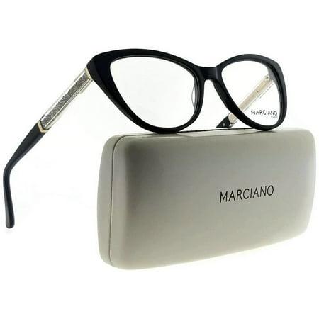 8ae5b2431d06 Guess By Marciano GM0312-001-53 Cat Eye Womens Black Frame Clear Lens  Eyeglasses - Walmart.com