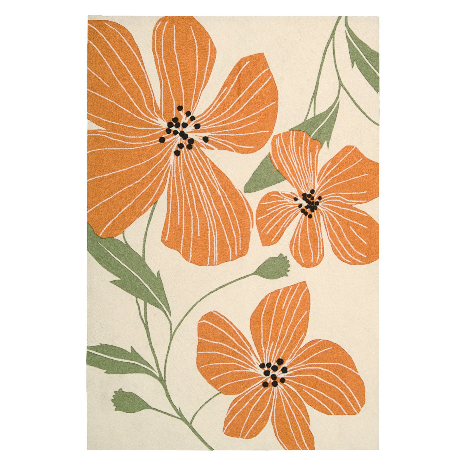 Nourison Fantasy Floral Images Modern Bloom Area Rug