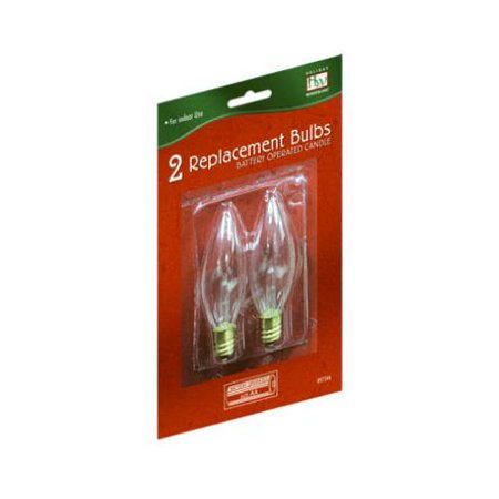 replacement bulbs for battery operated christmas candle 2 pk