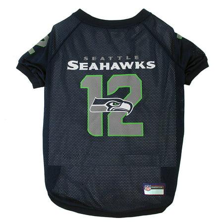 Pets First NFL Seattle Seahawks Raglan Jersey #12